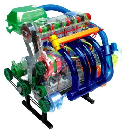 桑塔纳发动机机体解剖模型